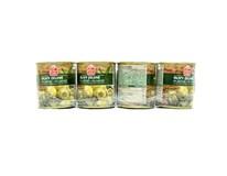 Fine Life Olivy zelené s ančovičkami 4x200 g