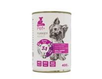 The Pet+ Dog Tin Turkey Thepet+ konzerva s morčacím mäsom pre psa 1x400 g