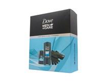 Dove Men Clean Comfort darčeková sada (tuhý deo+sprch.gél+rukavice)