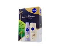 Nivea Coconut Pleasure darčeková sada (sprch.gél+telové mlieko)