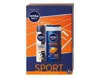 Nivea Men Sport Ultimate darčeková sada (deo sprej+sprchový gél)