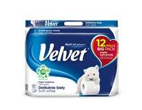 Velvet Soft white toaletný papier 3-vrstvový 150 útržkov 1x12 ks