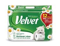 Velvet Camomille toaletný papier 3-vrstvový 150 útržkov 1x12 ks