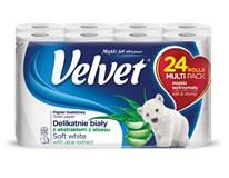 Velvet White Aloe toaletný papier 3-vrstvový 150 útržkov 1x24 ks