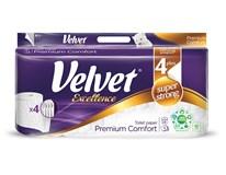 Velvet Excellence toaletný papier 4-vrstvový 160 útržkov 1x8 ks
