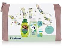 Fa a Schauma Green darčeková sada (šampón+sprchový gél+deo sprej) taška