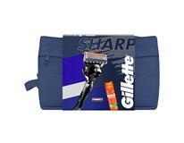 Gillette Proglide Sharp darčeková sada (žiletka+2 náhr.hlavice+gél na hol.) taška