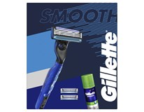 Gillette Smooth Mach3 darčeková sada (žiletka+3 náhr.hlavice+gél na holenie)