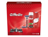 Gillette Mach3 Turbo darčeková sada (žiletka+2 náhr.hlavice+pena+sprch.gél)