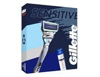 Gillette Skinguard Sensitive darčeková sada (žiletka+náhr.hlavica+gél)