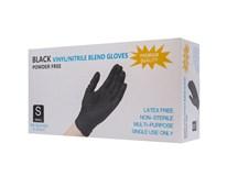 Rukavice vinylové čierne nepúdrované nitril veľkosť S 1x1ks