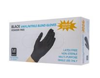 Rukavice vinylové čierne nepúdrované nitril veľkosť M 1x1ks