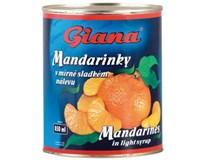 Giana Mandarínky lúpané 6x850 ml
