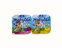 Milko Matylda tvaroh s jogurtom mix malina a banán BIO chlad. 2x100 g