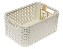 Box úložný rattanový krémový 7l 28,4x19,3x12,9cm Curver 1ks