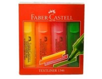 Zvýrazňovač textliner 1546 Faber Castell 4ks
