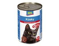 ARO wet cat hovädzie kúsky 6x415 g