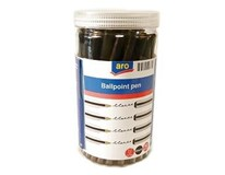 Pero guličkové jednorázové 1mm čierne ARO 50ks