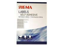Etikety 35,6x16,9mm biele SIGMA 100listov