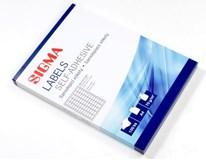 Etikety 38x21,2mm biele SIGMA 100listov