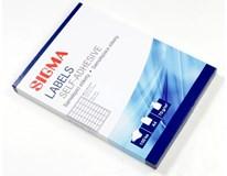 Etikety 48,5x25,4mm biele SIGMA 100listov