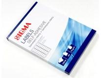 Etikety 63,5x29,6mm biele SIGMA 100listov