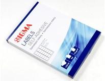Etikety 63,5x38,1mm biele SIGMA 100listov
