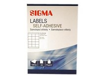 Etikety 70x50,8mm biele SIGMA 100listov