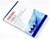 Etikety 105x37mm biele SIGMA 100listov