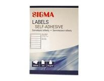 Etikety 192x38mm biele SIGMA 100listov