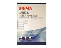 Etikety 192x61mm biele SIGMA 100listov