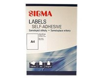 Etikety 210x297mm biele SIGMA 100listov