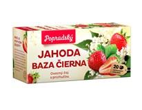 BOP Jahoda a baza čierna ovocný čaj 3x40 g