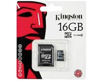 Kingston SDHC Micro Class4 16GB + adaptér 1ks
