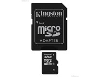 Kingston SDHC Micro Class4 32GB + adaptér 1ks