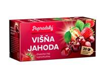 BOP Višňa a jahoda ovocný čaj 3x40 g