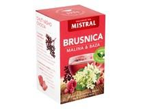 Mistral Brusnica, malina a baza čierna ovocný čaj 3x40 g