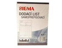 Dodací list A5/50 listov samoprepisovací SIGMA 10ks
