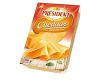 Président Cheddar plátky syr chlad. 1x100 g
