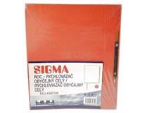 Dosky papierové roc červené SIGMA 10ks
