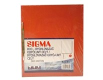 Dosky papierové RZC, červené SIGMA 10ks