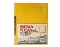 Dosky papierové RZC, žlté SIGMA 10ks