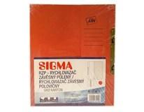 Dosky papierové RZP, červené SIGMA 10ks