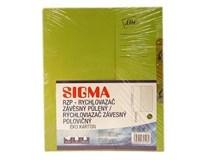 Dosky papierové RZP, zelené SIGMA 10ks