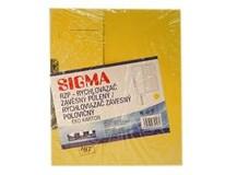 Dosky papierové RZP, žlté SIGMA 10ks
