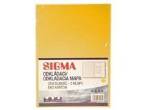 Dosky mapa 253 žlté SIGMA 10ks
