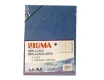 Dosky mapa 253 prešpán modré SIGMA 5ks