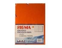 Dosky mapa 253 prešpán oranžové SIGMA 5ks