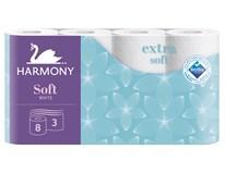 Harmony Toaletný papier Soft 3-vrstvový 19m 1x8 ks
