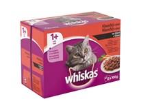 Whiskas kapsičky mäsový výber v šťave 12x100 g